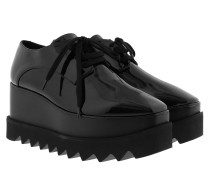 Elyse Platform Shoes Patent Black Sneakers