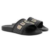 Guccy Slide Supreme Canvas Black Schuhe