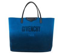 Antigona Reversible Shopping Tote Blue/Silver blau