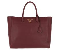 Shopping Bag Saffiano Leather Cerise Tote