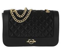 Quilted Shoulder Bag Black/Gold Tasche