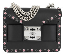 Mila Bling Metal Chain Shoulder Bag Black