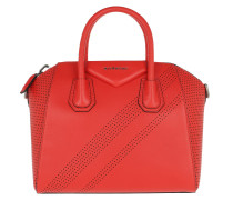 Umhängetasche Antigona Handbag Leather Pop Red hellrot