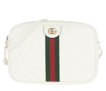 Umhängetasche Small Shoulder Bag Quilted Leather Off White weiß