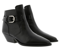 Ducklee Ankle Boots Leather Black Schuhe