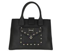 Satchel Bag Quilted Studs Handle Bag Black schwarz