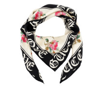Gothic Blind For Love Print Silk Scarf Ivory Accessoire