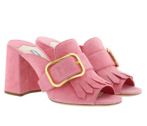 Sandals With Fringe Leather Fragola Sandalen