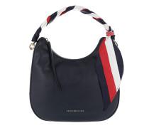 Iconic Foulard Leather SM Hobo Tommy Navy Hobo Bag