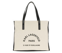 K/Rue Lagerfeld Canvas Beachbag Natural Tote