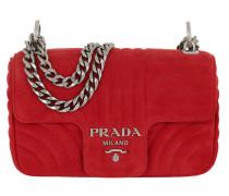 Diagramme Crossbody Bag Suede Rosso Tasche