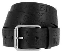Perforated Logo Belt Black Gürtel