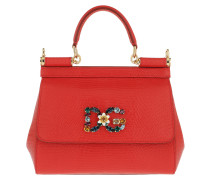 Sicily Mini St. Iguana Red Tote