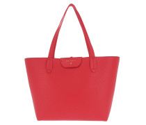 Long Handle Shopping Bag Double Red/Rose rot