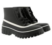 Boots Lace-Up Rainboots Rubber Black schwarz