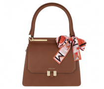 Satchel Bag Marlene Tablet Handle Set Cognac