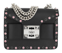 Mila Bling Metal Chain Shoulder Bag Black Tasche