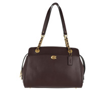 Tote Refined Calf Leather Parker Carryall Oxblood rot