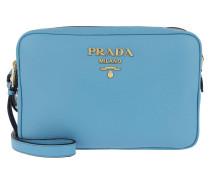 Calf Leather Shoulder Bag Sea Blue Tasche