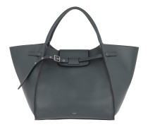 Medium Big Bag Supple Grained Calfskin Slate Tote