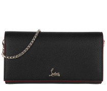 Buduoir Wallet On Chain Calf Leather Black/Gold Tasche