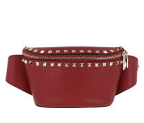 Gürteltasche Rockstud Belt Bag Calf Leather Red