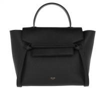 Satchel Bag Micro Belt Grained Leather Black
