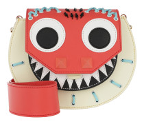 Mari Monster Embroidered Shoulder Bag Multi Tasche