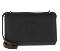 Hadley Embossed Logo Shoulder Bag Black Tasche
