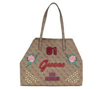 Vikky Large Tote Brown Tote