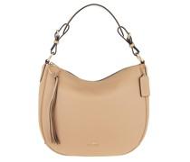 Hobo Bag Polished Pebble Leather Sutton Hobo Beechwood beige