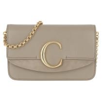 Umhängetasche C Clutch With Chain Motty Grey beige