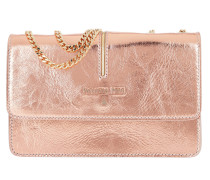 Flap Over Clutch Metal Rame gold