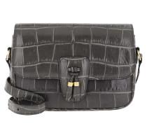 Umhängetasche Tassels Bag Medium Croco Leather Anthracite