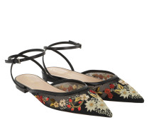 Diovere Embroidered Flat Sandals Yellow/Orange Sandalen