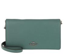 Umhängetasche Smooth Leather Slim Phone Crossbody Bag Dark Turquoise grün