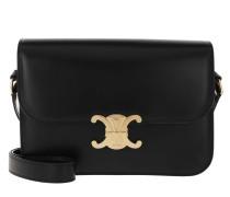 Umhängetasche Medium Triomphe Bag Shiny Calfskin Black