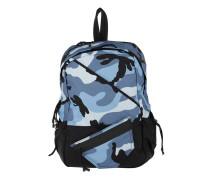 Sporty Nylon Backpack Camouflage Light Blue Rucksack blau