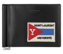 Université Patch Bil Clipp Wallet Black
