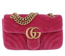 GG Marmont Velvet Mini Bag Light Raspberry Tasche