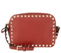 Rockstud Camera Crossbody Bag Rosso Tasche