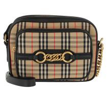 House Check Link Bag Black Tasche