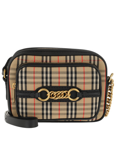 House Check Link Bag Black Tasche