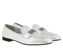Logo On Top Loafers Silver Schuhe