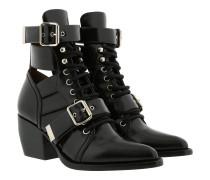 Rylee Medium Boots Shiny Calfskin Black Schuhe