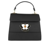 Satchel Bag Mughetto S Top Handle Bag Onyx schwarz
