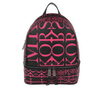 Rucksack Rhea Zip Medium Backpack Black/Neon Pink schwarz