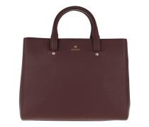 Ivy Handle Bag Burgundy Tote