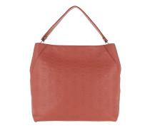 Klara Monogrammed Leather Hobo Large Cocoa Hobo Bag