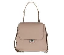 Satchel Bag Logo Shoulder Bag Real Taupe beige